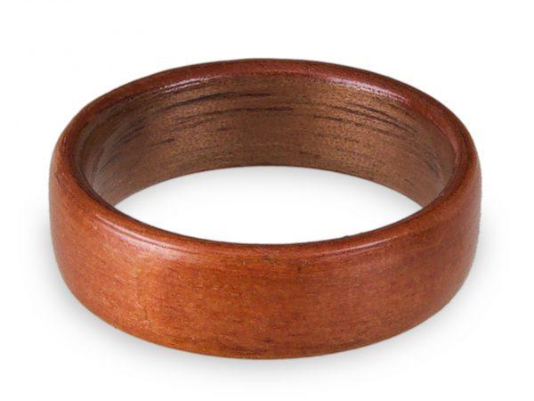 Holzring aus Kirsche und Walnuss