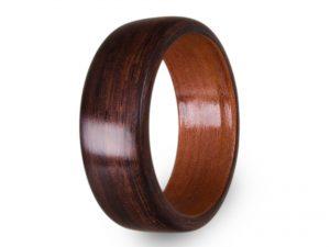 Holzring aus Rosenholz und Tineo