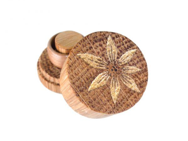 RoundSafe aus Eiche mit Wischgold-Inlay