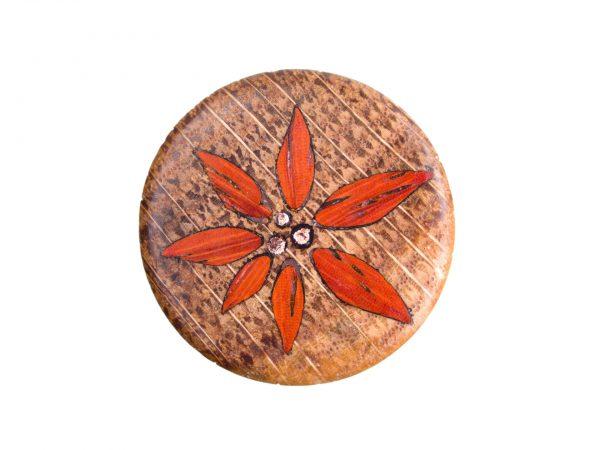 RingSafe aus Eiche mit Inlay aus Padouk und Blattkupfer
